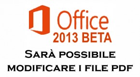 Office 2013 - Permetterà di modificare PDF - Logo
