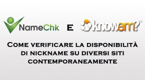 NameChk e KnowEm - verificare la disponibilità di nickname