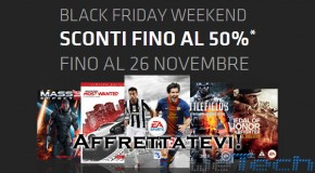 Black Friday Weekend di Origin: giochi scontati fino al 50%