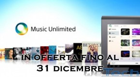 Sony Music Unlimited in offerta, MP3 illimitati per un anno a soli 12 euro