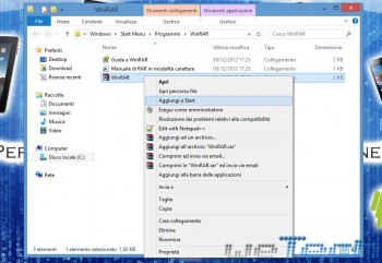 Windows 8 - Aggiungi  a start - 2