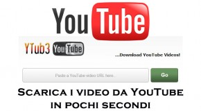 YTub3 - Scarica i video da YouTube in pochi secondi - Logo
