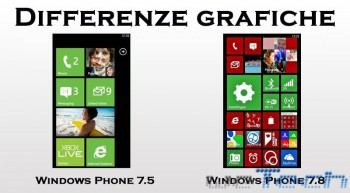 Differenze grafiche tra Windows Phone 7.5 e 7.8