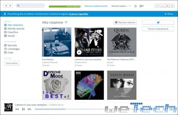 Rdio - Interfaccia desktop