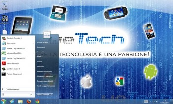 Windows 8 con il menu start di Windows 7