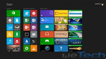La Start Screen di Windows 8