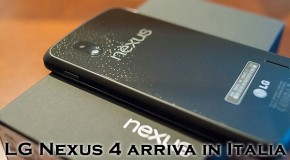 Nexus 4 arriva in Italia - Logo